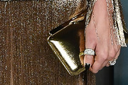 Charlize Theron Metallic Clutch