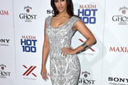 Janina Gavankar Print Dress