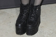Meghan Trainor Lace Up Boots