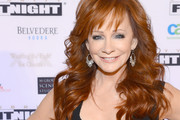 Reba McEntire Long Wavy Cut with Bangs