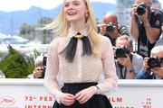 Elle Fanning Sheer Top