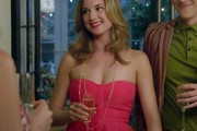 Emily VanCamp Strapless Dress