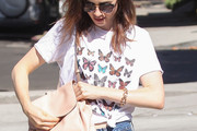 Lily Collins Graphic Tee