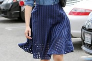 Emmy Rossum Knee Length Skirt