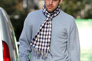 Joe Cole Patterned Scarf
