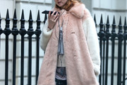 Lily Cole Fur Coat