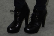 Vanessa Paradis Lace Up Boots