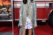 Jennifer Connelly Printed Coat