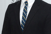 Justin Bartha Striped Tie