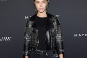 Josephine Skriver Leather Jacket