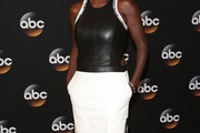Viola Davis Leather Dress