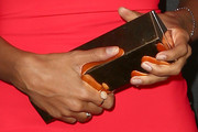 Leona Lewis Metallic Clutch