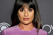 Lea Michele Long Straight Cut with Bangs