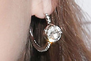 Beanie Feldstein Diamond Hoops