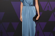 Gemma Chan One Shoulder Dress