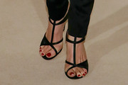 Hilary Swank Strappy Sandals