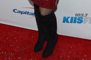 Meghan Trainor Knee High Boots