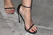 Jessica Lowndes Strappy Sandals
