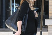 Molly Sims Leather Hobo Bag