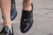Elizabeth Banks Leather Slip On Shoes