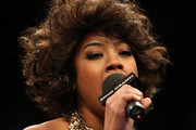 Keyshia Cole Medium Curls with Bangs