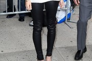 Elizabeth Olsen Leather Pants