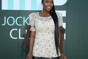 Aja Naomi King Embellished Top