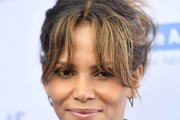 Halle Berry Messy Updo