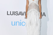 Shanina Shaik Fringed Dress