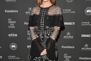 Brittany Snow Embroidered Dress