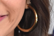 Rashida Jones Gold Hoops