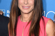 Sandra Bullock Long Straight Cut with Bangs