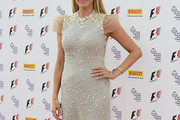 Tess Daly Beaded Dress