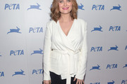 Emily Deschanel Wrap Top