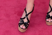 Laura Brown Platform Sandals