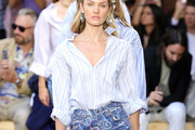 Candice Swanepoel Button Down Shirt