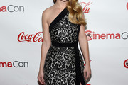 Britt Robertson One Shoulder Dress