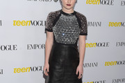 Kaitlyn Dever Leather Dress
