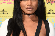 Keke Palmer Long Straight Cut with Bangs