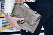 Carla Bruni-Sarkozy Leather Clutch
