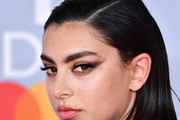 Charli XCX Side Parted Straight Cut