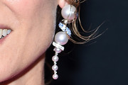 Diane Kruger Dangling Pearl Earrings