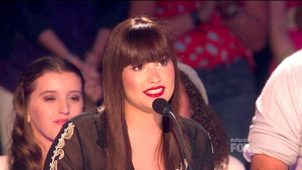 Demi Lovato X Factor Brunette Hair