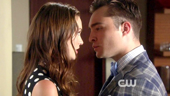 Ed Westwick and Leighton Meester - Gossip Girl Season 6 Episode 1