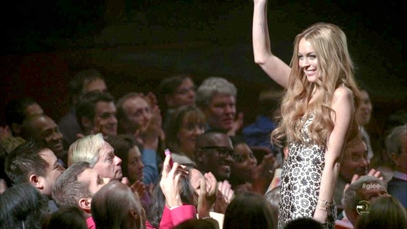 Lindsay Lohan at Glee – Season 3, Episode 21 on May 15, 2012
